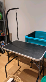 Dog Grooming Table with harness and dog grooming Hairdryer