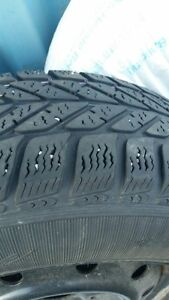 USED 205/65R15 Snow Tires - Rims included London Ontario image 1