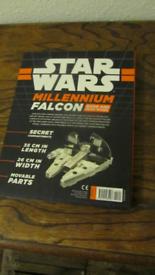 Star Wars Millenium Falcon model and book