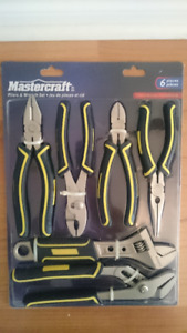 Mastercraft - 6 pieces pliers and wrench set