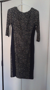 Ralph Lauren navy animal-print dress