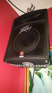 Two Peavey Speakers with Amplifiers