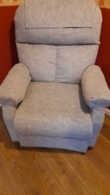 Pride Riser Recliner Chair in Oatmeal, VGC