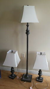 1 tall and 2 table lamps for $50
