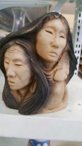 Rare & vintage native American Indian statue.
