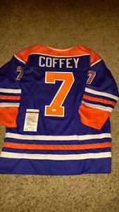 Paul Coffey signed jsa authenticated jersey NHL Edmonton Oilers