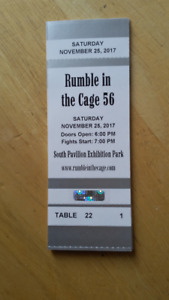 Rumble In The Cage 56 Vip table with 8 tickets