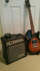 Epiphone Electric Guitar & Randall Amp