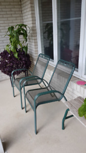 Outdoor Metal Chairs and side table