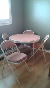 Card Table and 4 Chairs - Cooey Brand
