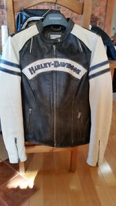 Ladies Leather Harley Motorcycle Jacket