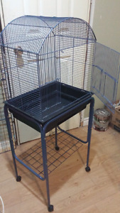2 cages on stands