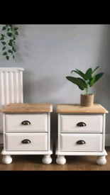 Upcycled pair of pine drawers