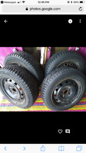 Used winter tires and rims for Toyota Corolla 185/65R15