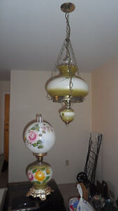 Table lamp ,and matching hanging light fixture