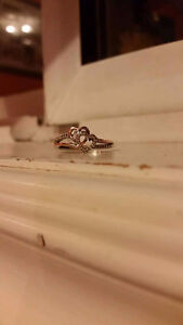 Beautiful silver/rose gold promise ring.