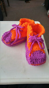 Hand Knitted slippers.