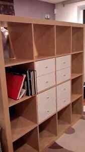 Étagère EXPEDIT Ikea 4x4 + 4 modules de 2 tiroirs