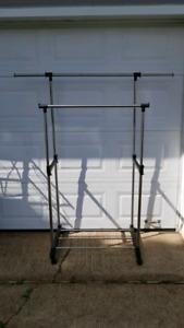 Clothing Rack on Wheels (Adjustable) MUST GO