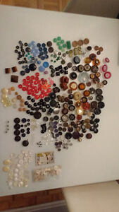 Huge lot vintage retro antique buttons RARE