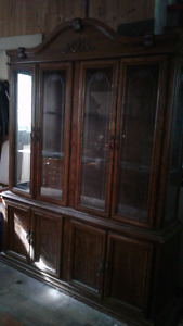 China cabinet with lights