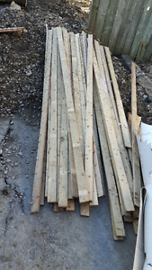 "1"" x 4"" spruce strapping - used"