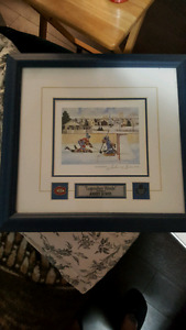 Legendary Rivals framed and signed print. MAKE ME A OFFER.
