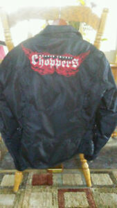 BRAND NEW ORANGE COUNTRY CHOPPERS LADIES MOTORCYCLE JACKET