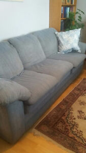 REDUCED.  Comfy blue couch