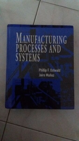 Book - Manufacturing Process and Systems