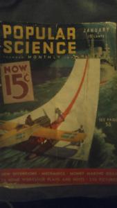 1933 Popular Science magazine
