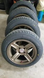 15inch 4x100 RIMS NEW + 195/50R15 TIRES NEW $600!!