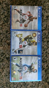 NHL, NFL AND NBA LIVE 2015