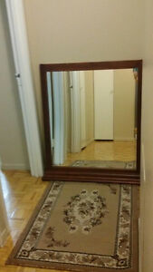 Mirror with a nice wood frame