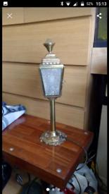 Brass lamp.
