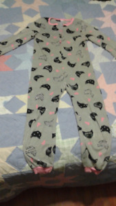 Girls fleece one-piece Pj's