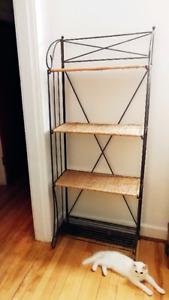 Metal/Wicker Folding Bookshelf