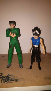 Anime action figures from Yu Yu Hakusho