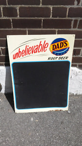 Enseigne vintage Dad's root beer soda affiche metal
