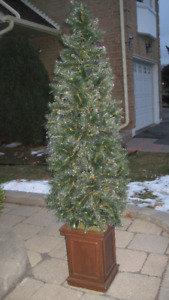 Artificial  Slim X-mas Tree - 6 ft high - Great for Small Spaces