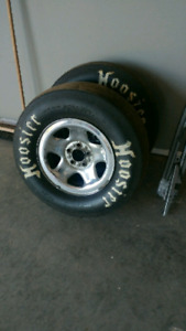 Hoosier Slicks on rims (New)