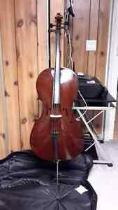 4/4 Full Size Soilid Wood Begginer Cello with Soft Case & Bow
