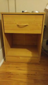 Small wood sidetable with drawer