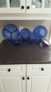 Blue Glass - various items