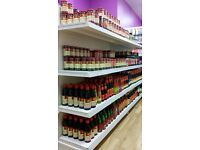 Shop Shelving for sell - Wall & Gondola Shelving - Supermarket Shop Display- Shop Fitting Edinburgh