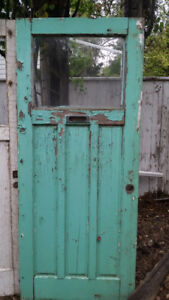 Old exterior doors for art projects