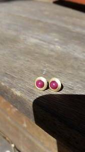 18K Gold Plated African Ruby Stud Earrings Summer Hill Ashfield Area Preview