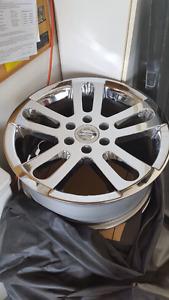 "Nissan  20"" chrome wheels set 4 Fits 2004-2015 Titan and Armada"