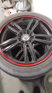 "Enkei 17"" rims and tires"