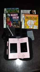 PINK DS GAME CONSOLE WITH GAMES!!! Windsor Region Ontario image 1